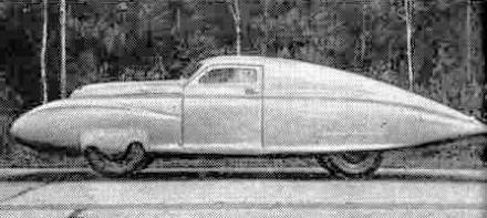 На одной из машин (N 11) установили новый специальный кузов с выступающими спереди и сзади дюралюминиевыми обтекателями