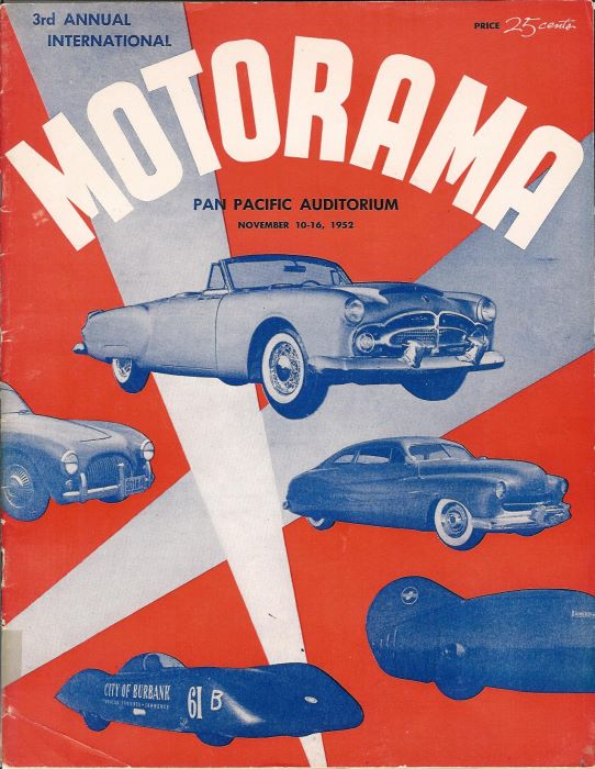 Motorama. Pan Pacific auditorium. Nowember 10-16 1952